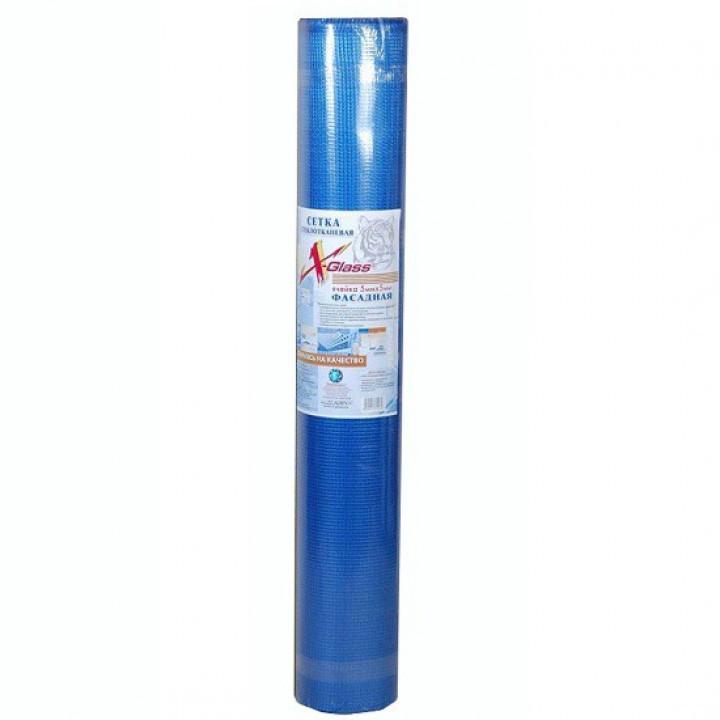 Сетка фасадная X-Glass Pro штукатурная 5х5мм синий 160гр/м2