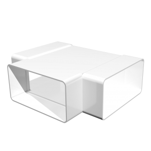 Тройник плоский Т-образный ПВХ 204х60мм ЭРА 620ТПП