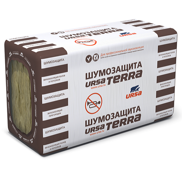 Звукоизоляция Ursa Terra / Урса Терра Шумозащита 1000х600х50мм (6м2; 0,305м3)
