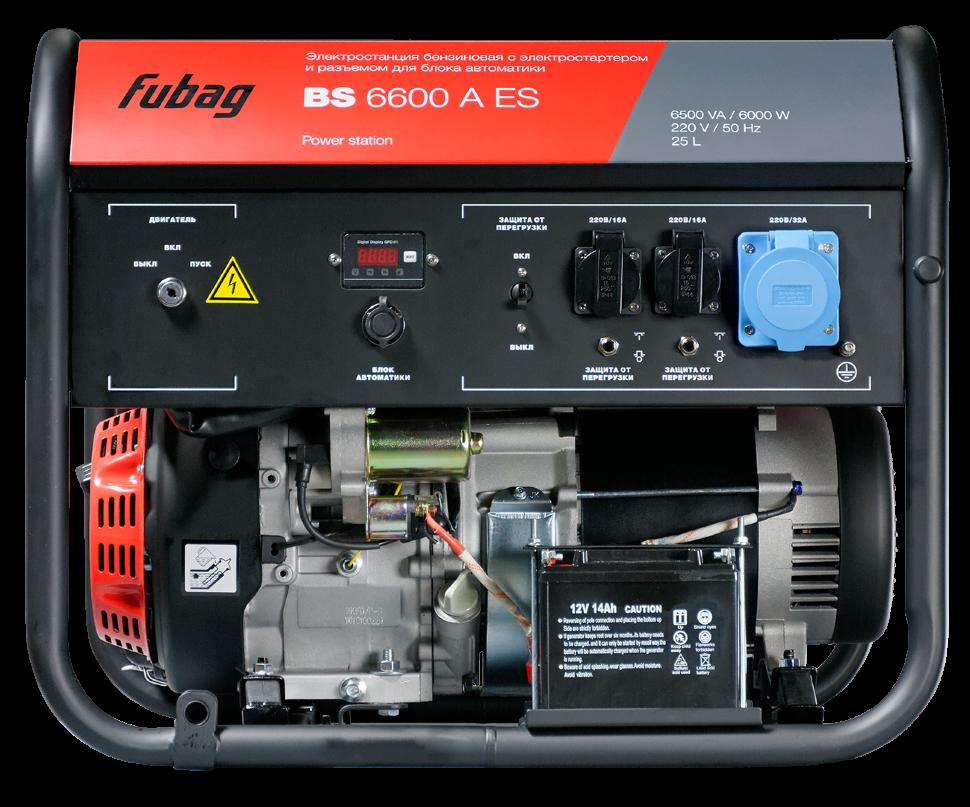 Бензиновая электростанция Fubag BS6600A ES