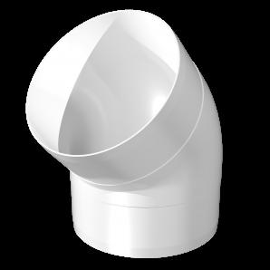 Колено круглое 45° ПВХ Д100 ЭРА ККП10
