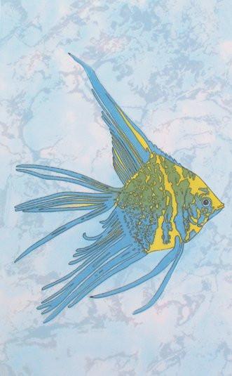 Панно из 1-ой плитки Бриз жёлтая рыба D-403aAR8 20х33