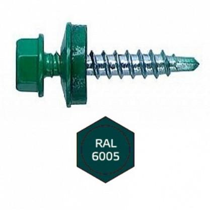 Саморез кровельный 5,5х19мм RAL6005 темно-зеленый