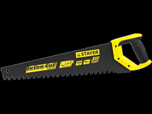 Ножовка по пенобетону BETON Cut серия PROFESSIONAL 500мм, шаг 20мм, Stayer