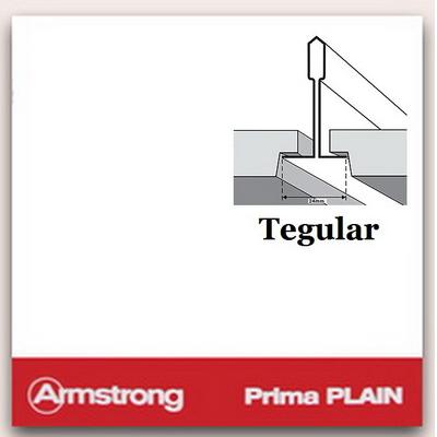 Потолочная плита Armstrong Prima Plain Tegular