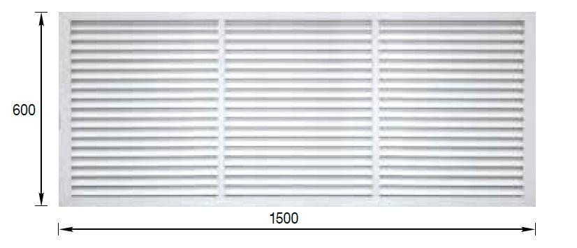 Решетка радиаторная ПВХ 600х1500мм белая ERA П60150Р