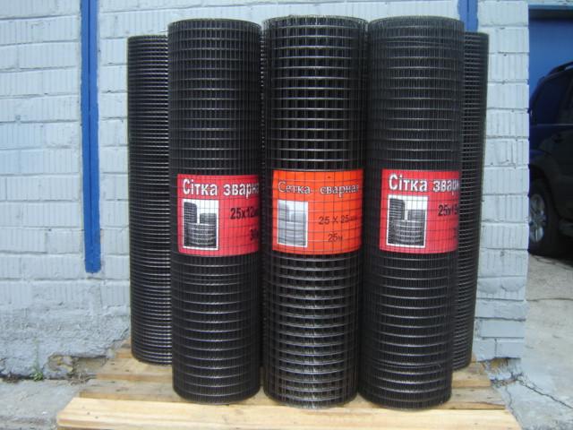 Сетка сварная черная 50х50х1,6мм 1,5х40м
