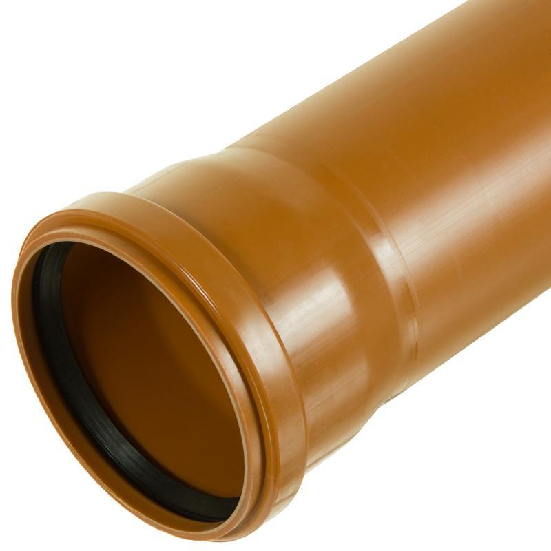 Труба ПВХ наружная канализационная Д 200х4,5х3м рыжая
