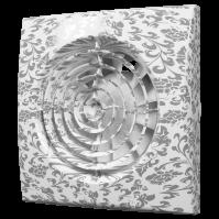 Вентилятор осевой вытяжной с обратным клапаном D100, декоративный AURA 4C white design