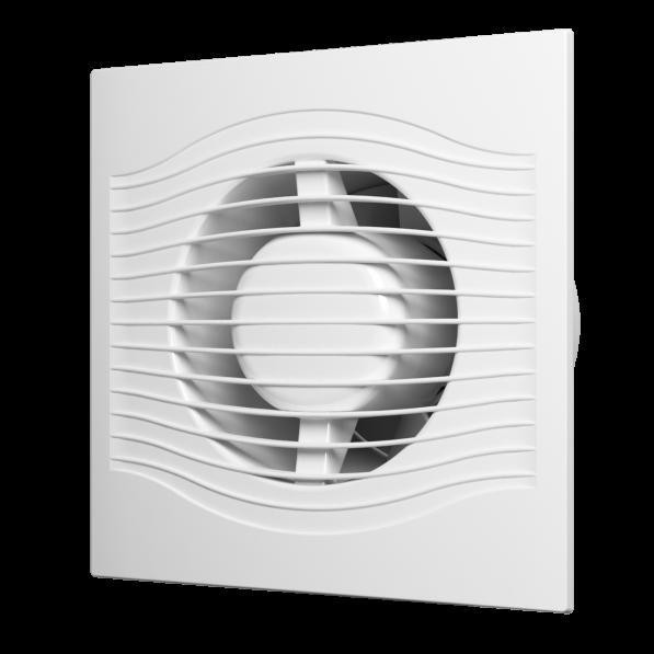 Вентилятор осевой вытяжной с контроллером Fusion Logic 1,1, обратным клапаном, тяг выкл D100 SLIM 4C MRH-02