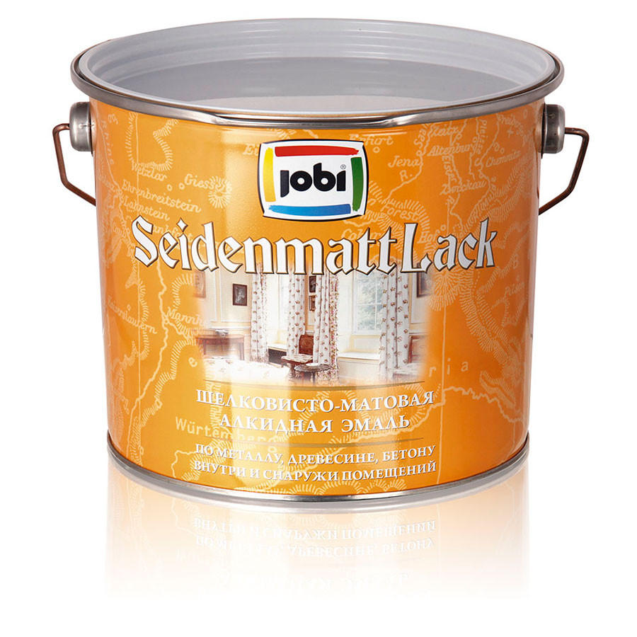 """Эмаль Jobi Seidenmattlack (ЗайденматтЛак) 0,9л бесцветная """"БАЗА C"""""""