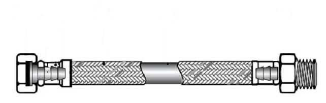 Гибкая подводка для воды 1/2 гайка штуцер 50см (вн-нар)