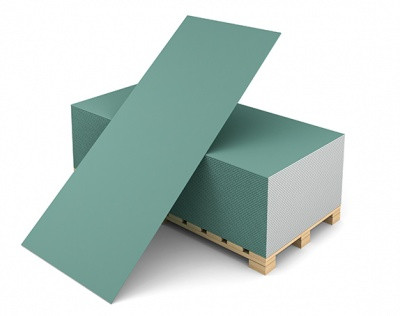 Гипсокартон влагостойкий ГКЛВ Волма 2500х1200х9,5мм