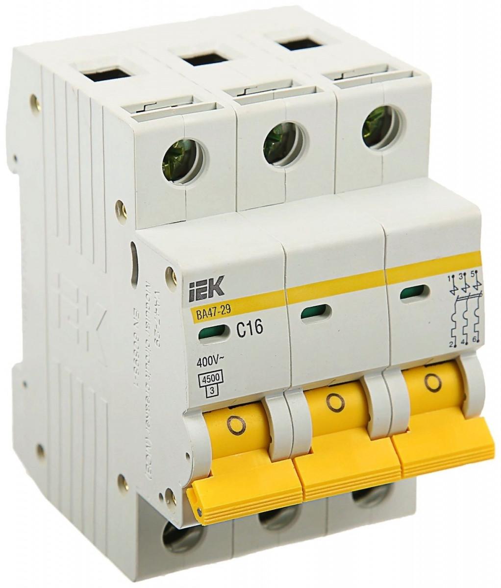 Автоматический выключатель ВА47-29 3Р 50А
