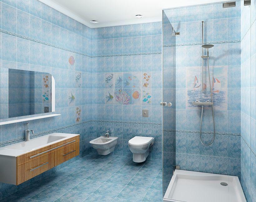 Напольная плитка Бриз голубая PERL8 33х33