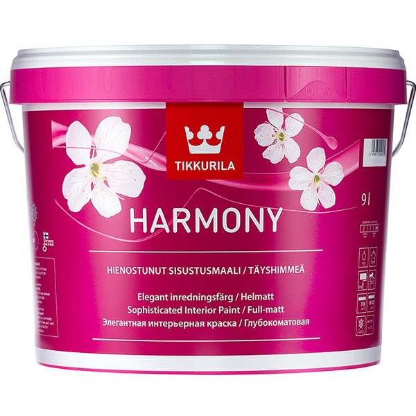 Краска Tikkurila Harmony / Тиккурила Гармония интерьерная 9л